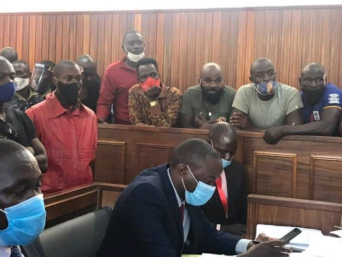 Just In: Nubian LI, Eddie Mutwe And 25 Other NUP Supporters Released On Cash Bail