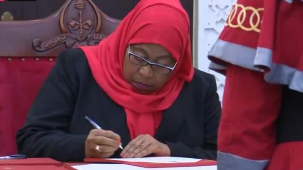 VP Samia Suluhu Hassan Sworn In As Tanzania's Next president