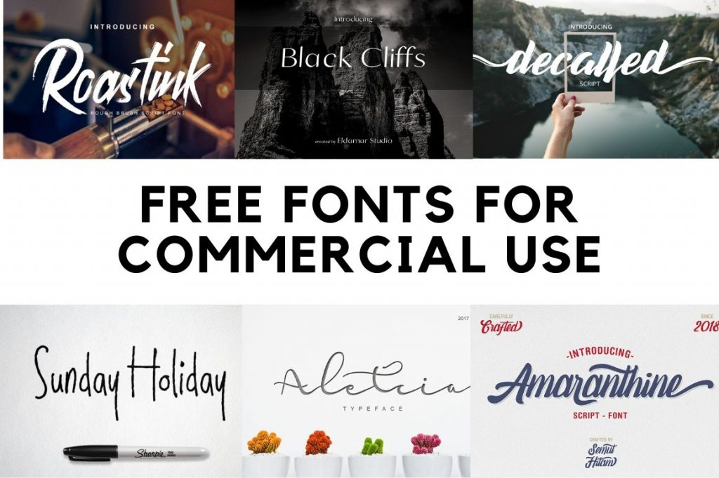 10 Free Commercial Fonts For Designers from Adobe Behance